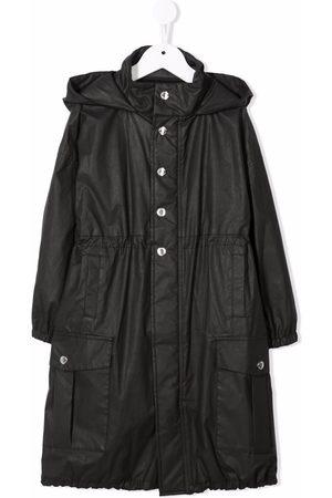 Balmain Hooded ruched coat