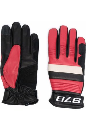 Diesel Panelled leather gloves