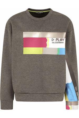 Dolce & Gabbana Men Sweatshirts - Graphic-print cotton sweatshirt - Grey