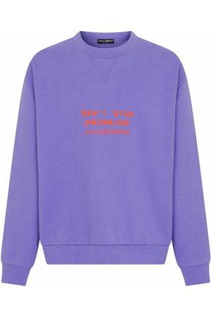 Dolce & Gabbana Men Sweatshirts - Embossed cotton-blend sweatshirt