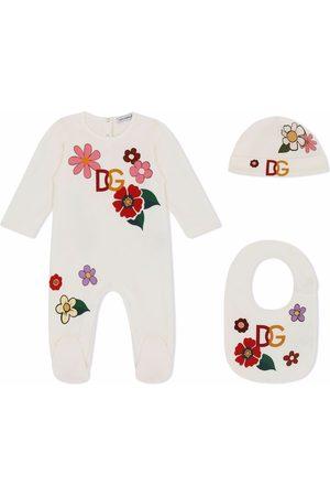 Dolce & Gabbana Kids Pajamas - Floral logo-print pajamas