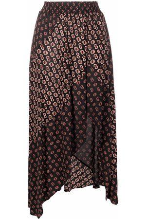 Maje Women Asymmetrical Skirts - Patchwork asymmetric skirt