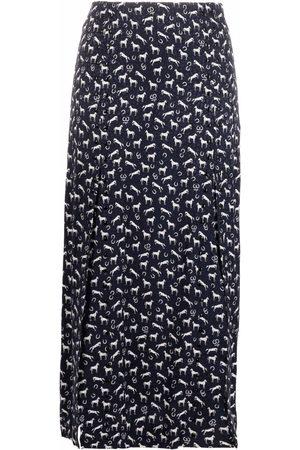 Maje Women Printed Skirts - Long horse-print skirt