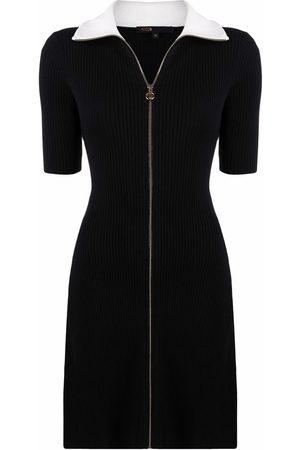 Maje Women Casual Dresses - Polo zipped knit dress