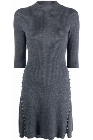 Maje Short-sleeve jumper dress - Grey