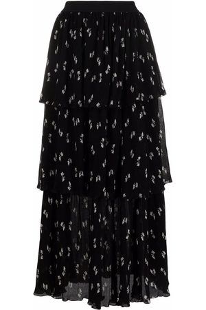 Maje Women Printed Skirts - Tiered bow-print skirt