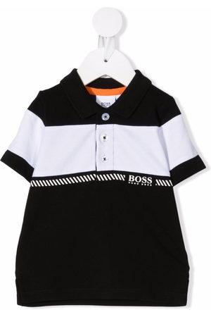 BOSS Kidswear Colour-block polo shirt