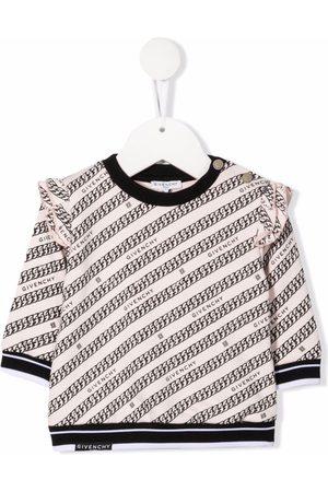 Givenchy Kids Hoodies - Chain-print fleece sweatshirt