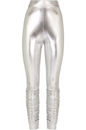 Dolce & Gabbana Metallic-effect leggings
