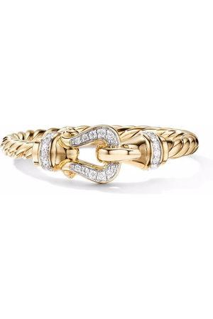 David Yurman Women Rings - 18kt yellow Petite Buckle diamond ring