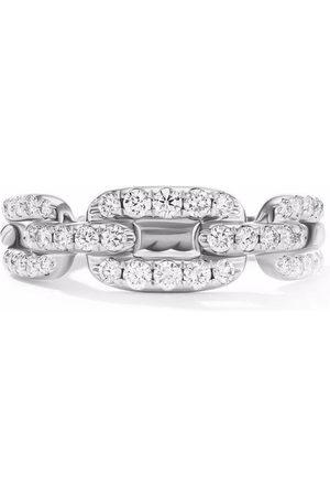 David Yurman Women Rings - 18kt white gold Stax chain link diamond ring