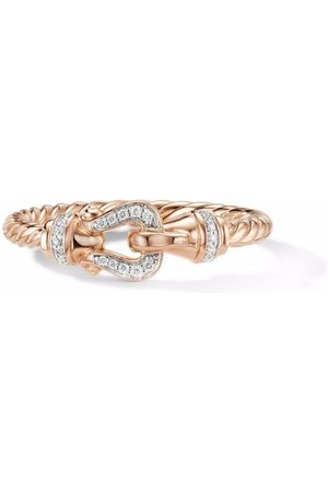 David Yurman Women Rings - 18kt rose gold Petite Buckle diamond ring
