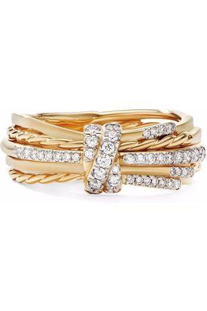 David Yurman Women Rings - 18kt yellow Angelica linear diamond ring