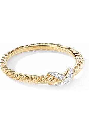 David Yurman Women Rings - 18kt yellow Petit X diamond ring