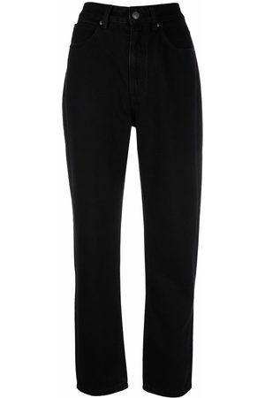 12 STOREEZ Women High Waisted - High-rise tapered-leg jeans