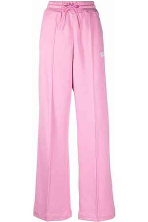 MSGM Women Sweatpants - Logo-detail track pants