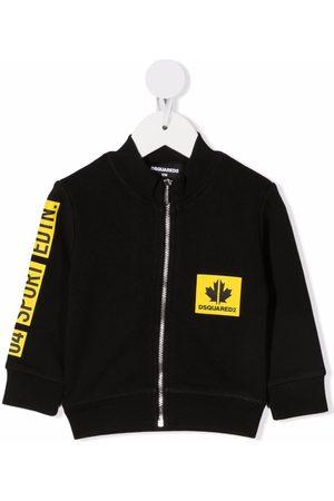 Dsquared2 Contrasting logo zip-up sweatshirt