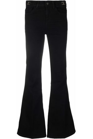 Maje Belt-waist flared jeans