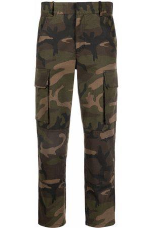 Maje Women Cargo Pants - Camouflage-print cargo trousers
