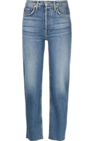 RE/DONE Women High Waisted - Stobe Pipe high-rise straight jeans