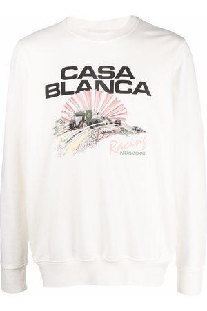 Casablanca Men Sweatshirts - Racing Shell logo sweatshirt