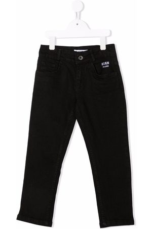 Msgm Girls Jeans - Embroidered-logo jeans