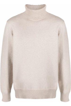 Universal Works Men Turtlenecks - Ribbedknit rollneck sweater - Neutrals