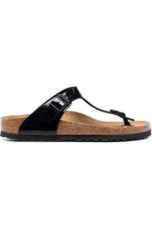 Birkenstock Gizeh patent-leather sandals