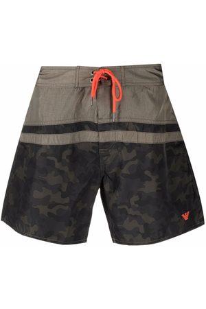 Emporio Armani Camouflage-print swim shorts
