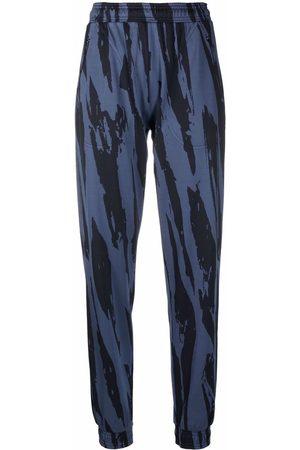 Kenzo Women Straight Leg Pants - Zebra-print straight-leg pants