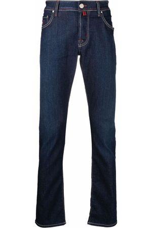 Jacob Cohen Men Straight - Contrast-stitch straight-leg jeans