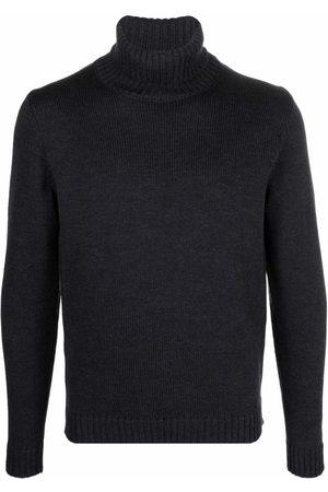 Zanone Men Turtlenecks - Roll neck wool jumper - Grey
