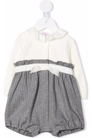 Il gufo Pinstripe cotton-jersey romper - Grey