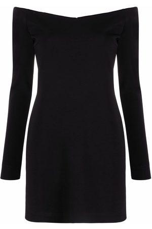 Fendi Off-the-shoulder long-sleeve dress