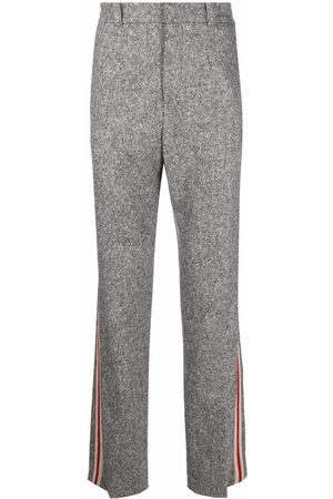 WALES BONNER Side-tripe knitted track pants - Grey