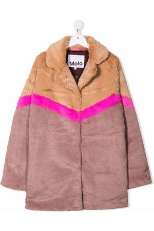 Molo Duffle Coat - TEEN Haili faux-fur coat