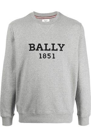 Bally Logo-print melange sweatshirt - Grey
