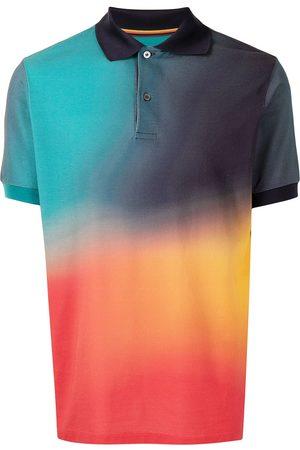PAUL SMITH Men Polo Shirts - Abstract-print cotton polo shirt - Multicolour