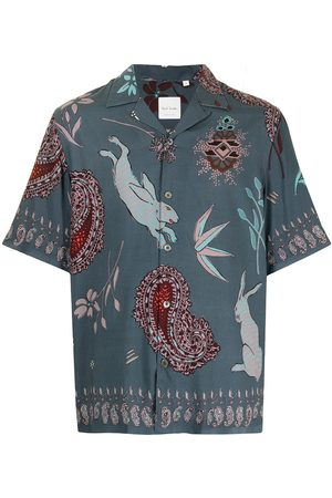 Paul Smith Mixed-print short-sleeved shirt