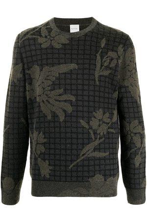 Paul Smith Men Sweatshirts - Intarsia-knit wool-blend jumper - Grey