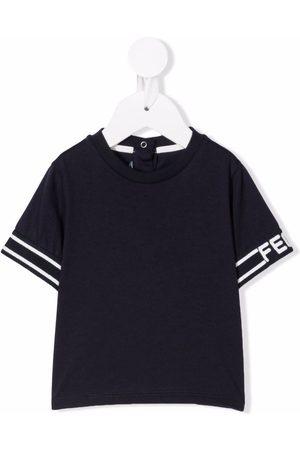 Fendi Kids Logo cuff T-shirt