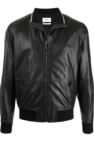 Bally Men Leather Jackets - Zip-up leather jacket