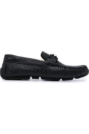 Bally Logo patch loafers