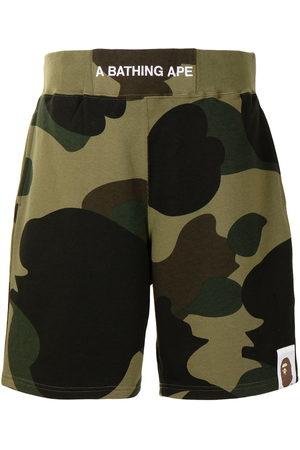 A Bathing Ape Men Bermudas - Elasticated waist cargo shorts