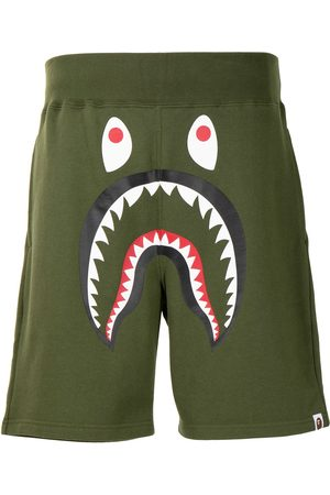 A Bathing Ape Men Bermudas - Face print shorts