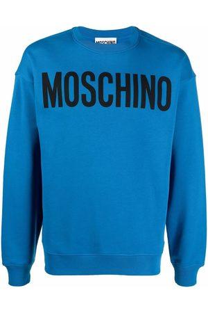 Moschino Men Sweatshirts - Logo-print crewneck sweatshirt