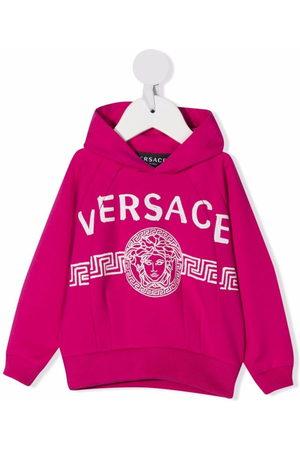 Versace Kids Hoodies - Logo-print cotton hoodie
