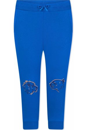 Kenzo Kids Sweatpants - Lion-embroidered track trousers