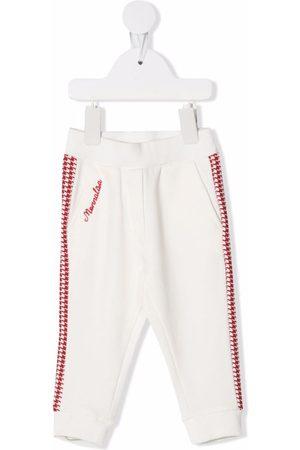 Monnalisa Boys Pants - Houndstooth logo trousers - Neutrals