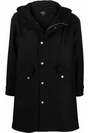 A.P.C. Men Duffle Coat - Mid-length hooded duffle coat